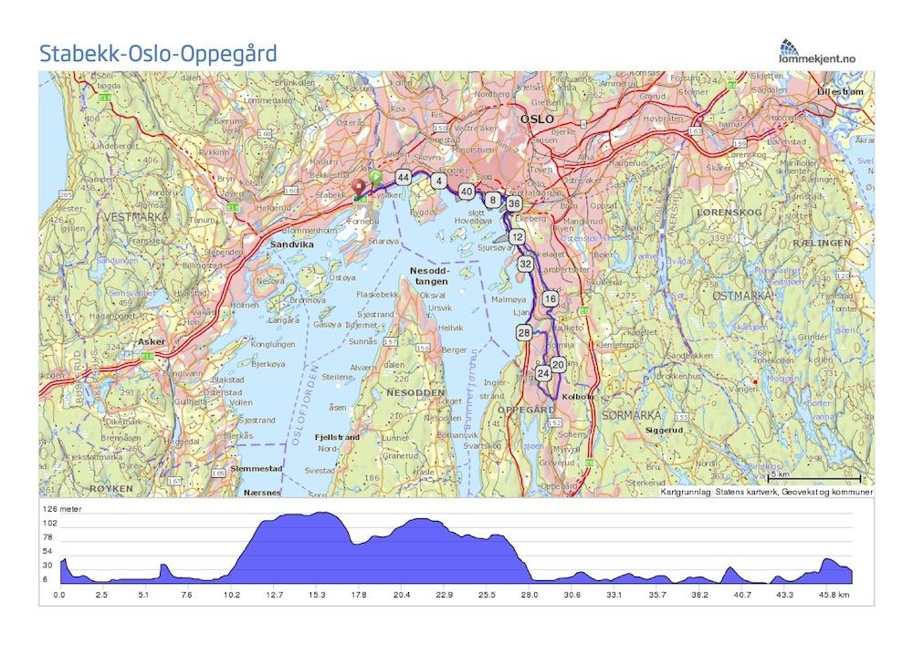 stabekk kart Sykkeltur til Oppegård stabekk kart