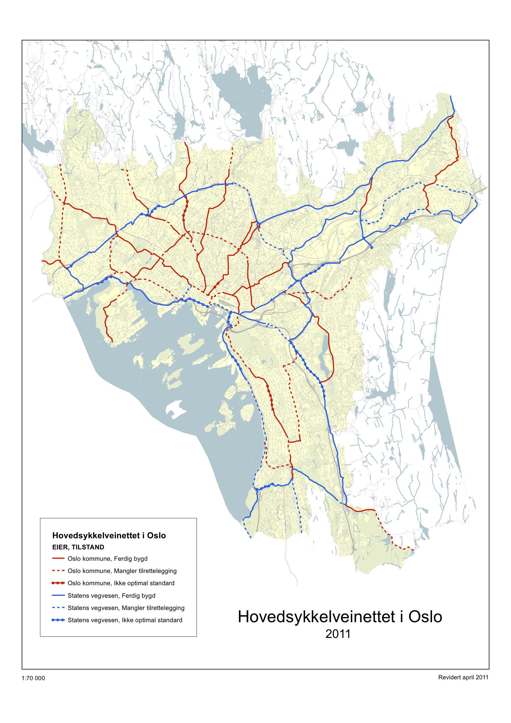 sykkelveier oslo kart På gang /sykkelveier i Bærum og Oslo sykkelveier oslo kart