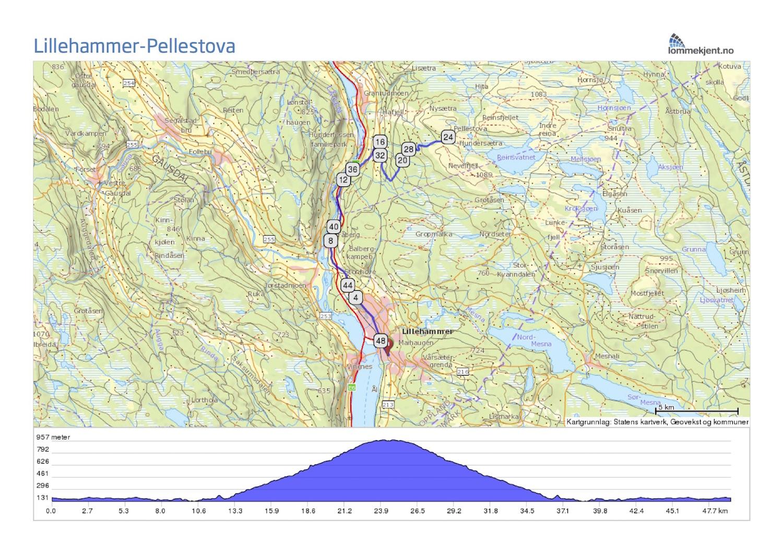 mærradalen kart Tur /retur Pellestova mærradalen kart