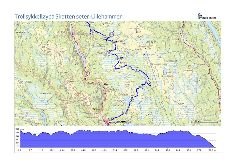 trollsykling kart Trollsykling: Skotten seter Lillehammer trollsykling kart
