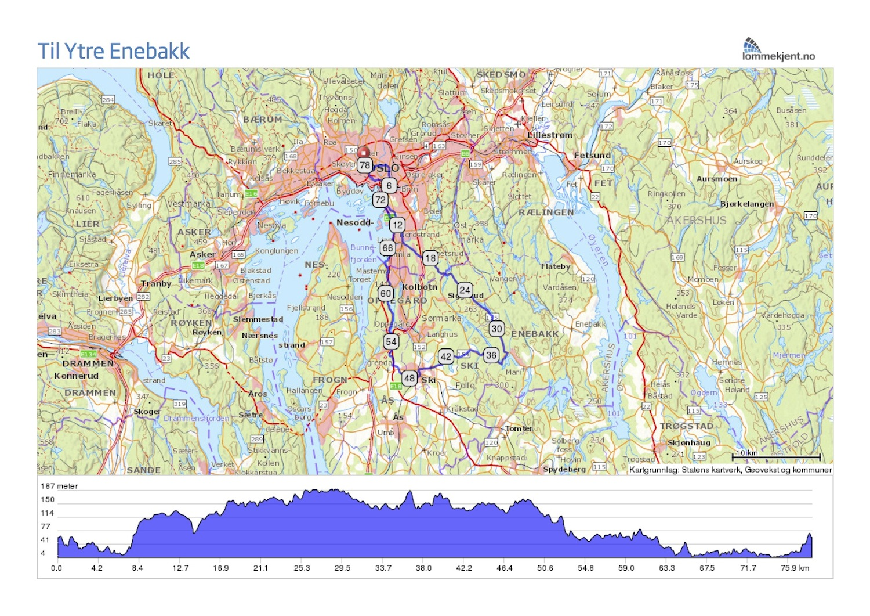 kart over enebakk Til Ytre Enebakk kart over enebakk