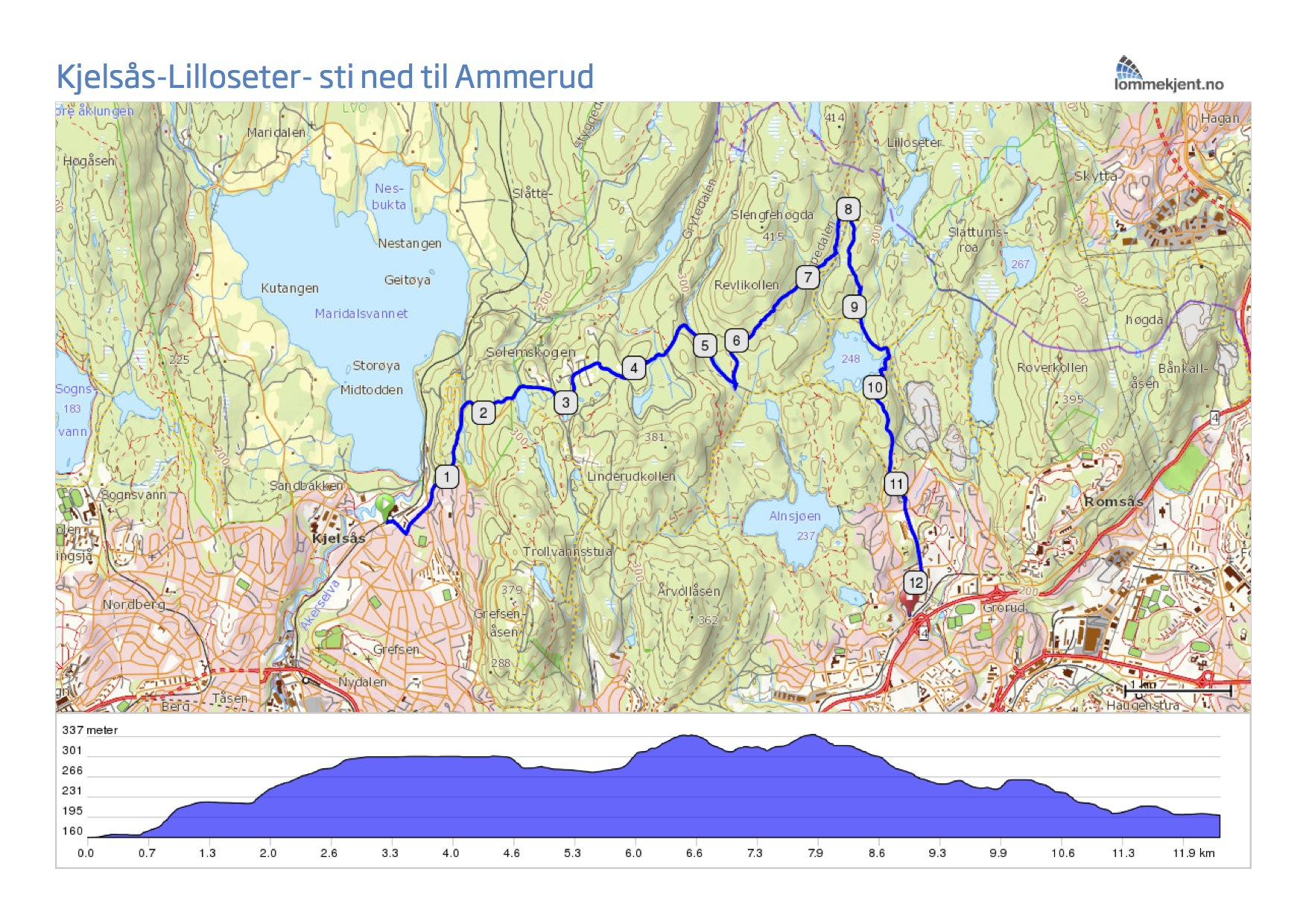 lillomarka kart Stisykling i Lillomarka lillomarka kart